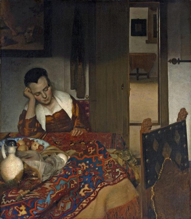 Johannes Vermeer, La Jeune femme endormie (ca. 1657), Metropolitan Museum of Art, New York