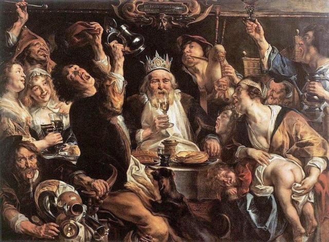 Jacob Jordaens, Le Roi boit (1640 ?), Musées royaux des beaux-arts, Bruxelles