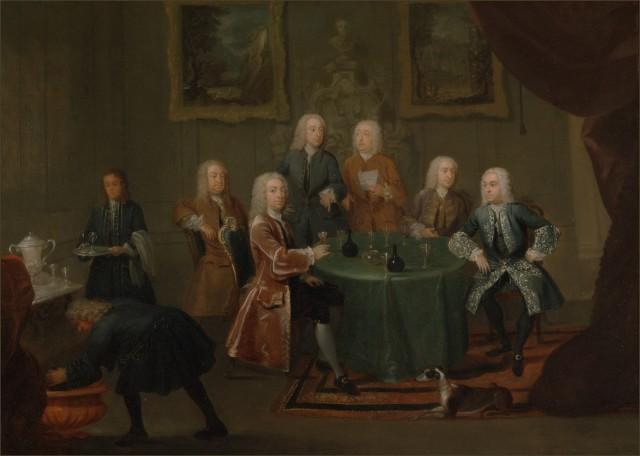 hamilton les frères clarke et d autres gentlemen prenant du vin